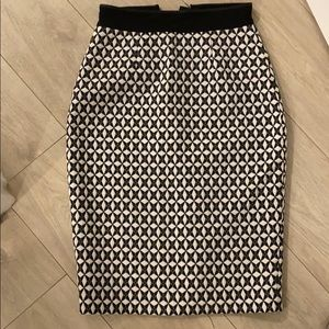 Banana republic amazing printed work skirt